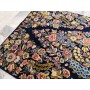 Bedside Kerman Raver Extra-fine antique rug Persia 116 x 60 with white silk Mollaian rugs