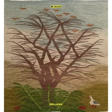 tapestry kilim Nile Egypt 78x74-Mollaian-rugs-Aubusson and Tapestries-Arazzo Kilim Nile Harrania-geometrico-2289-140,00€-Sal...