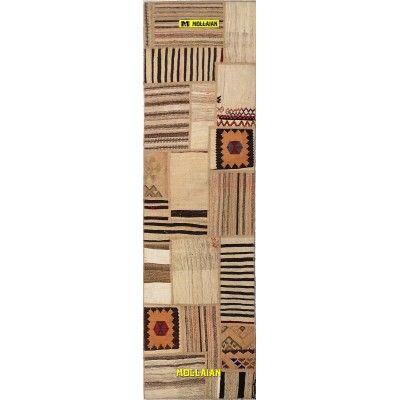 Patchwork Old Kilim Persia 255x72-Mollaian-Patchwork-Vintage-Rugs-Patchwork Vintage carpets-Patchwork kilim-12012-275,00€-Sa...