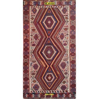 Kilim Shirvan Antico 310x168-Mollaian-Tappeti-Antichi-Tappeti Antichi-Shirvan Caucasico-Old-Carpet-4672-1.950,00€-saldi--50%