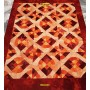 Patchwork kilim Aubusson Tapestry 195 x 148 Orange beige rugs Mollaian