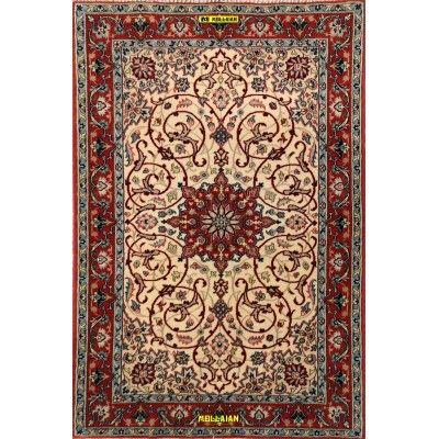 Isfahan Extra Fine Seta Persia 105x70-Mollaian-Tappeti-Scendiletto-Tappeti Scendiletto-Isfahan-7597-1.175,00€-Saldi--50%
