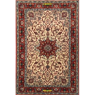 Isfahan Extra Fine Silk Persia 105x70-Mollaian-Bedside-Rugs-Bedside carpets-Isfahan-7597-1.175,00€-Sale--50%